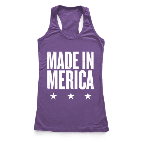 Made In Merica Racerback Tank Top