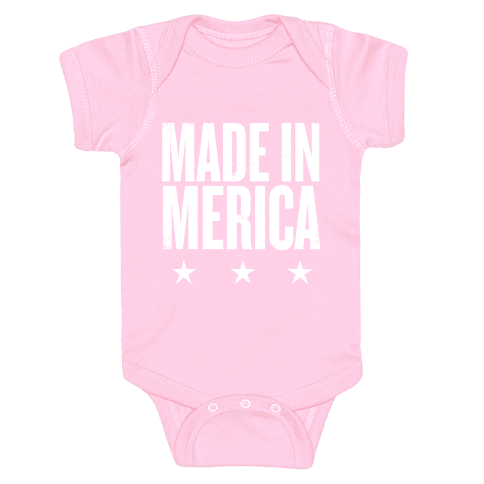 Made In Merica Baby Onesy