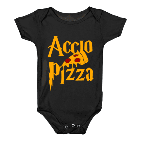 Accio Pizza Baby Onesy