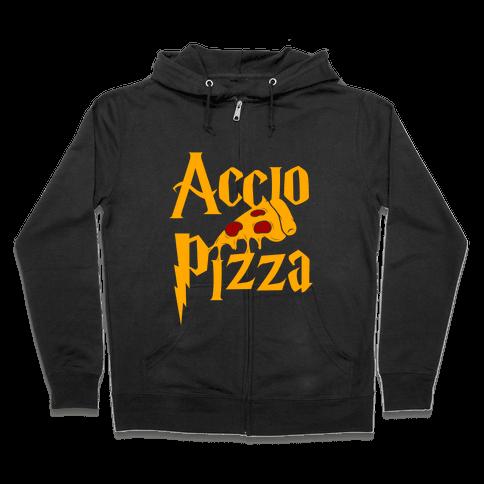 Accio Pizza Zip Hoodie