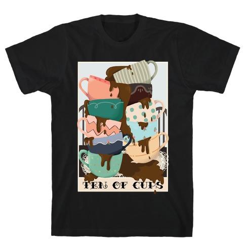 Ten Of Cups (Coffee) Tarot Card T-Shirt