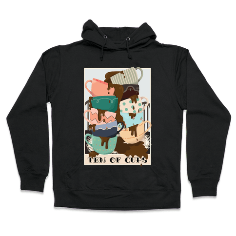Ten Of Cups (Coffee) Tarot Card Hooded Sweatshirt