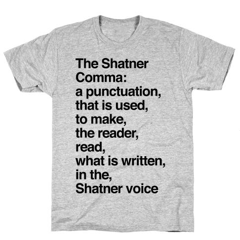 Shatner Comma Mens T-Shirt