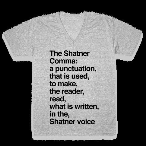 Shatner Comma V-Neck Tee Shirt