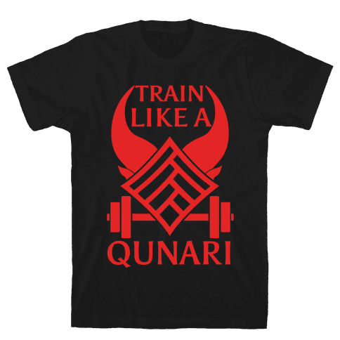 Train Like A Qunari Mens T-Shirt