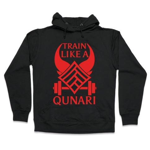 Train Like A Qunari Hooded Sweatshirt