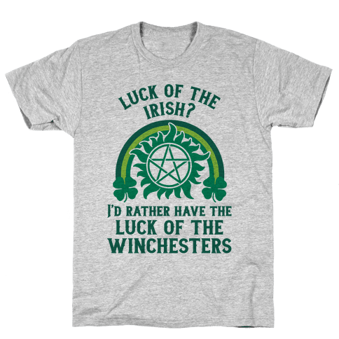 Luck of the Winchesters Mens T-Shirt