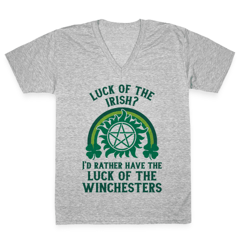 Luck of the Winchesters V-Neck Tee Shirt