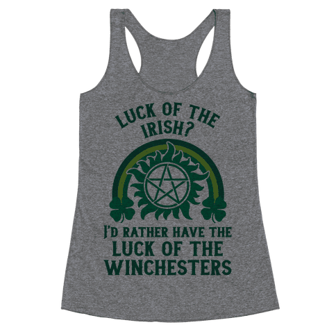 Luck of the Winchesters Racerback Tank Top
