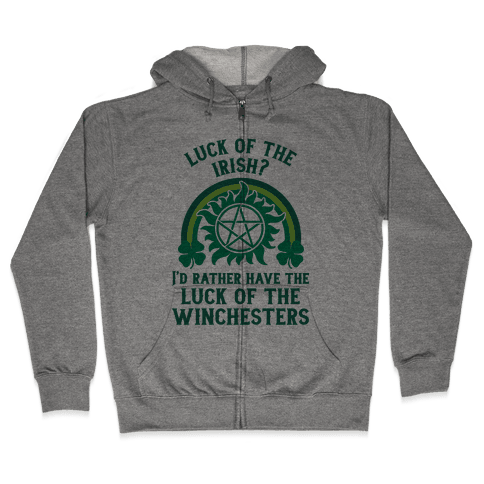 Luck of the Winchesters Zip Hoodie