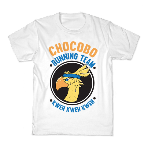 Chocobo Running Team Kweh! Kids T-Shirt