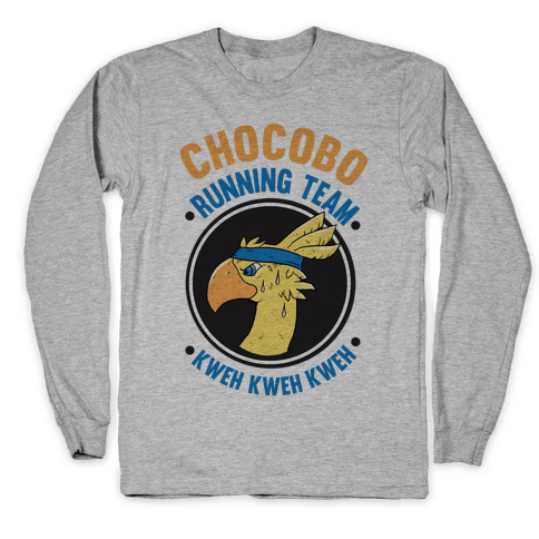 Chocobo Running Team Kweh! Long Sleeve T-Shirt
