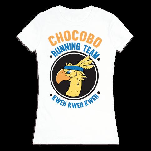 Chocobo Running Team Kweh! Womens T-Shirt