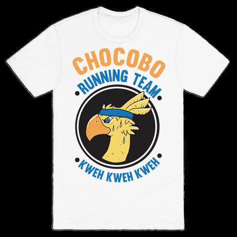 Chocobo Running Team Kweh! Mens T-Shirt