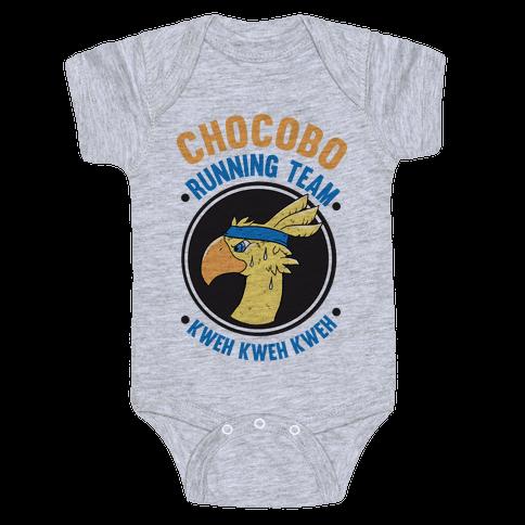 Chocobo Running Team Kweh! Baby Onesy