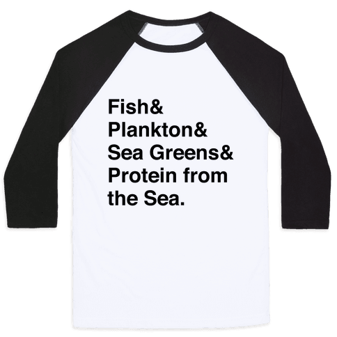 Protein From The Sea Baseball Tee