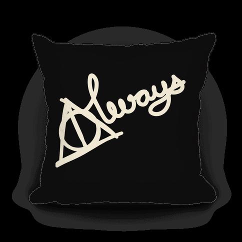 Hallows Always (White On Black)