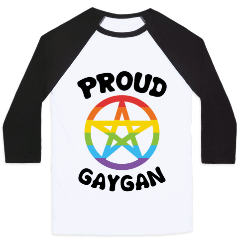 Proud Gaygan Baseball Tee