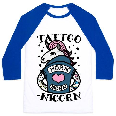 Tattoo-nicorn Baseball Tee