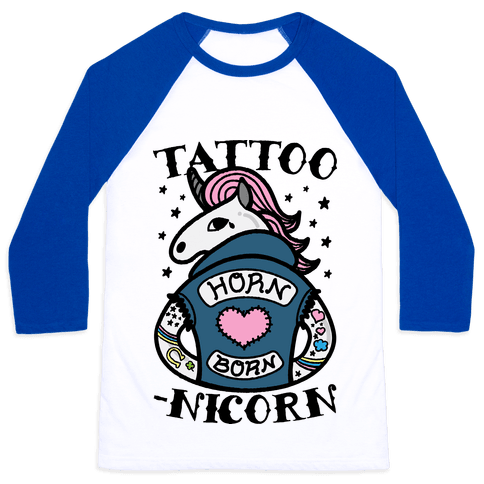Tattoo-nicorn Baseball Tee