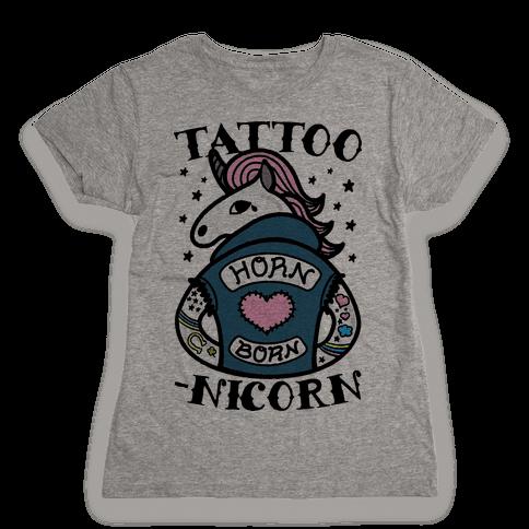 Tattoo-nicorn Womens T-Shirt