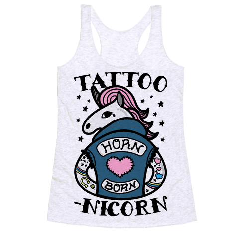Tattoo-nicorn Racerback Tank Top
