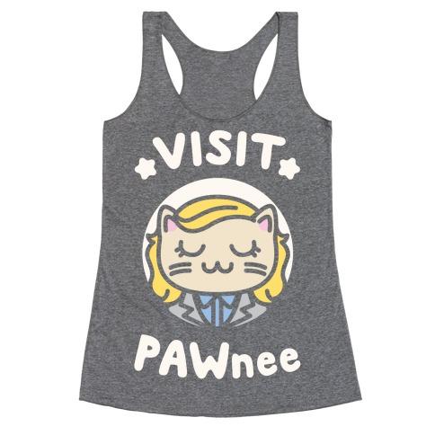 Visit Pawnee Racerback Tank Top