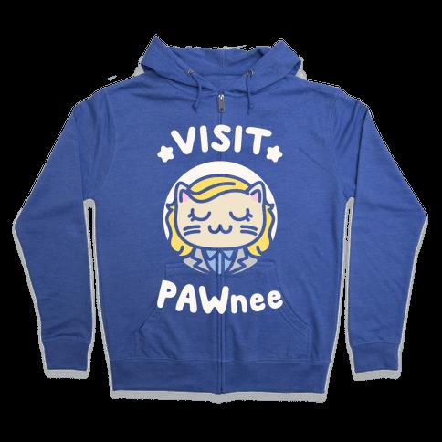 Visit Pawnee Zip Hoodie