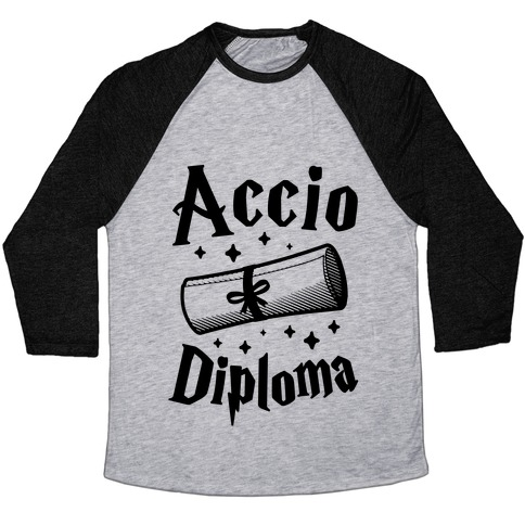 Accio Diploma Baseball Tee