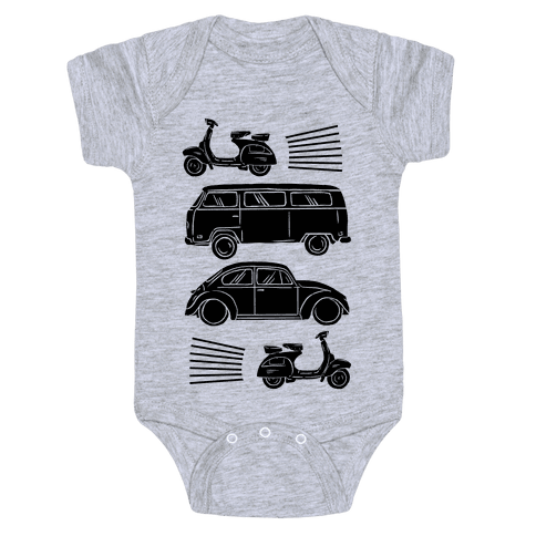 The 1960's Hippie Traveler Baby Onesy