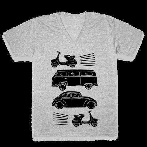 The 1960's Hippie Traveler V-Neck Tee Shirt