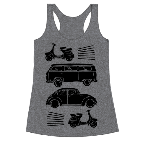 The 1960's Hippie Traveler Racerback Tank Top