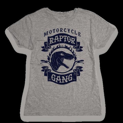 Motorcycle Raptor Gang Womens T-Shirt