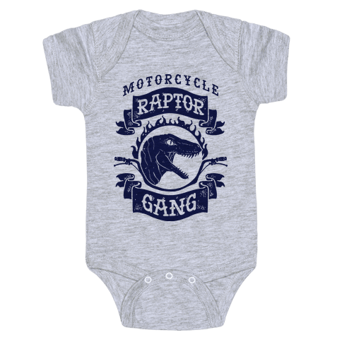 Motorcycle Raptor Gang Baby Onesy