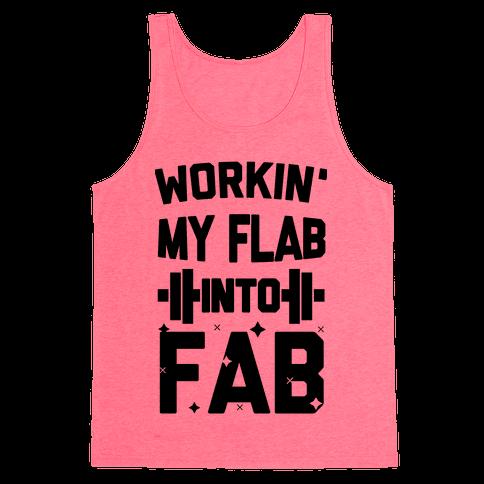 Workin' My Flab into Fab Tank Top