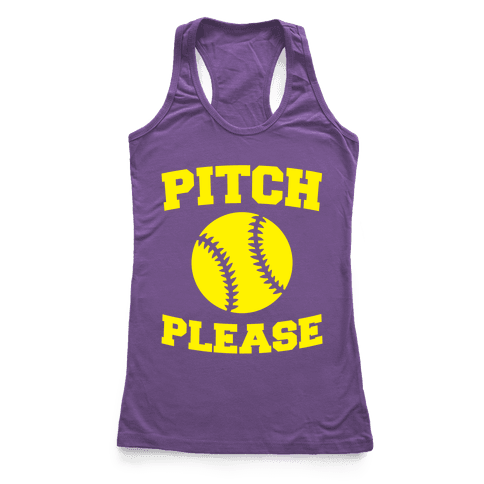 Pitch Please Racerback Tank Top