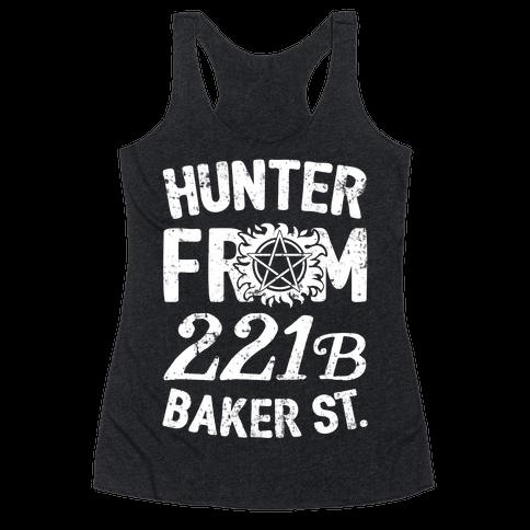 Hunter From 221B Baker St. Racerback Tank Top