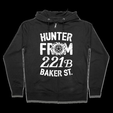 Hunter From 221B Baker St. Zip Hoodie