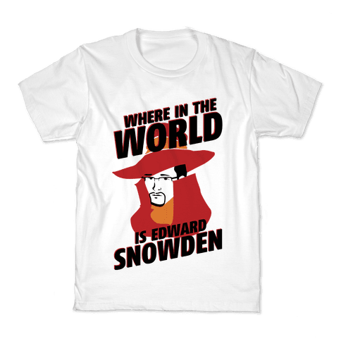 Where In The World Is Edward Snowden Kids T-Shirt