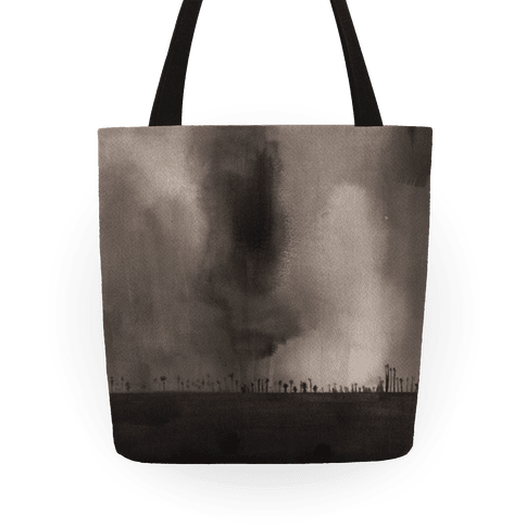 Ghostly Inkwash Landscape Tote