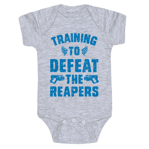 Training To Defeat The Reapers Baby Onesy