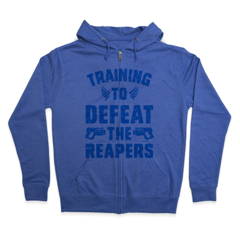 Training To Defeat The Reapers Zip Hoodie