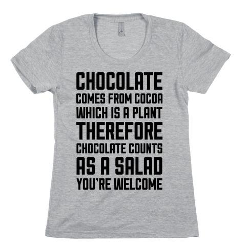 Chocolate Salad Womens T-Shirt
