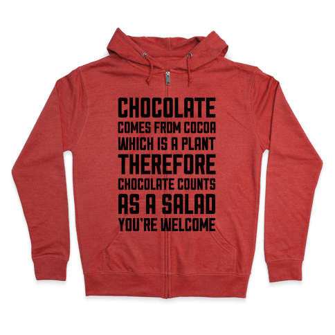 Chocolate Salad Zip Hoodie