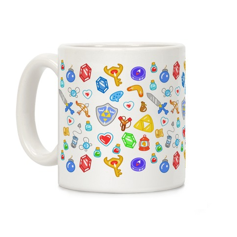 Zelda Items Pattern Coffee Mug