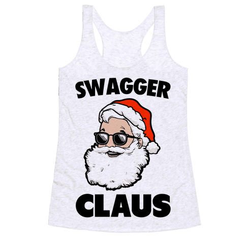 Swagger Claus Racerback Tank Top