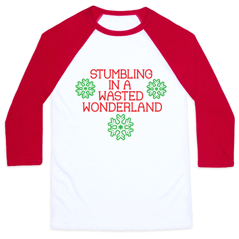 Stumbling in a Wasted Wonderland Baseball Tee