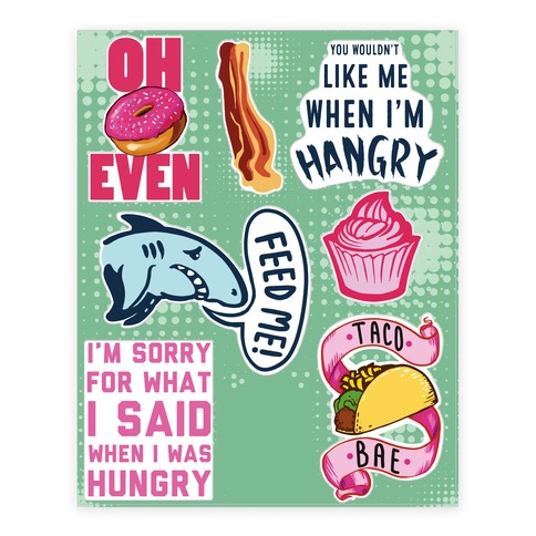 Hangry Sticker/Decal Sheet