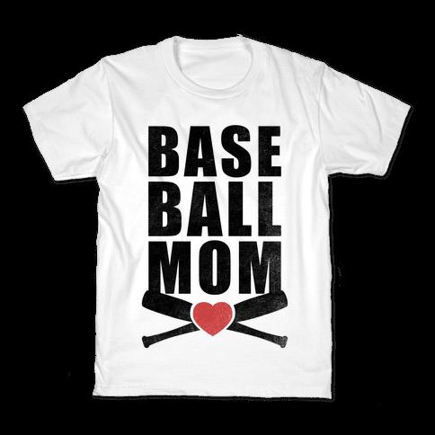 Baseball Mom Kids T-Shirt