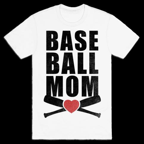 Baseball Mom Mens T-Shirt